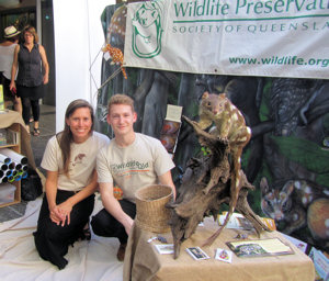Alina and Sam from Wildlife Queensland on Threatened Species Day Photo © WIldlife Queensland